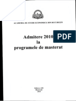 Admitere Master 2010