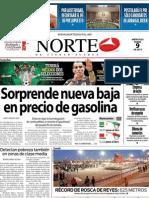 Periodico Norte de Ciudad Juárez 9 de Enero de 2013