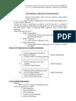 Ch-5 (Identifying Market Segments, Targeting & Positioning)