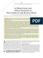Open Reduction and Internal Fixation of Fractures of the Radial Head