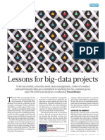 Lessons for big-data projects