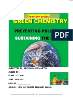 INTRODUCTION TO GREEN CHEMISTY