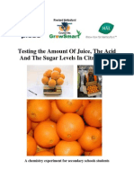 determinatio of acid contents in sour fruits