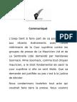 Communiqué USEP 2013