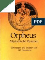 Joseph Otto Plassmann - Orpheus, Altgriechische Mysterien