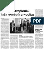 La Corte dei diritti dell'uomo condanna lo Stato italiano per trattamento inumano e degradante dei detenuti - Il Manifesto 09.01.2013