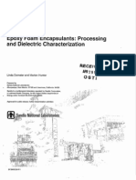 Epoxy foam encapsulation - processing and dielectric characternization
