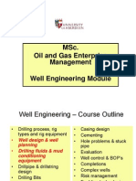 3. Well Engineering, Well Design and Drilling Fluids