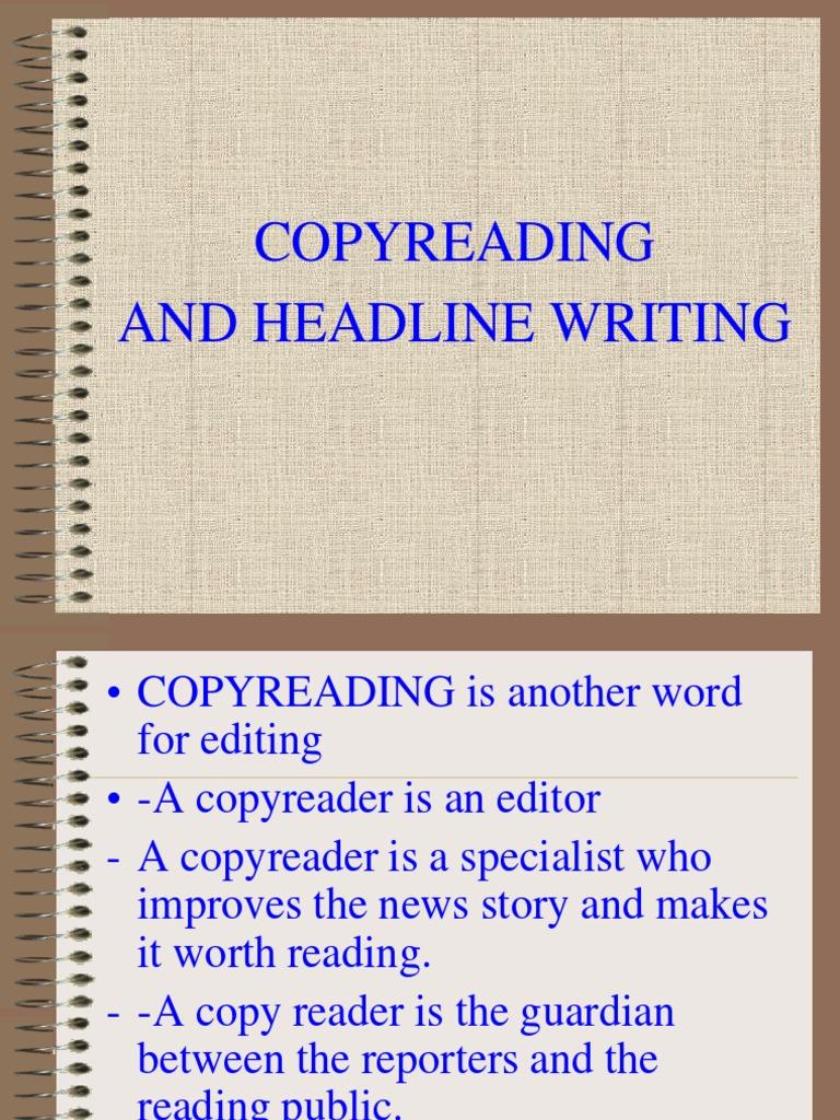 Copyreading And Headline Writing Editing Ellipsis