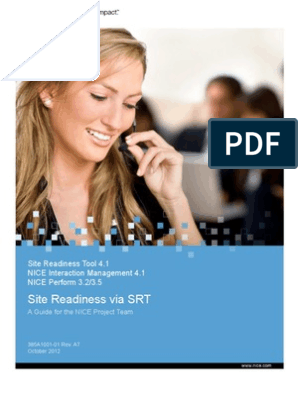 SRT - Site Readiness via SRT - NIM 4 1 - NP 3 2, 3 5_2