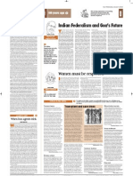 Indian Federalism and Goa's Future