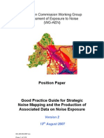 Good Practice Guide for Strategic Noise Mapping and the Production of Associated Data on Noise Exposure