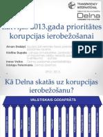 Latvijas 2013 Gada Prioritates Korupcijas Ierobezosanai