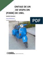 Montaje de un motor de Vespa DN