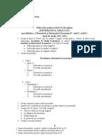 Subiecte informatica testul nr 1 ASEM