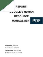 Google's HR Management
