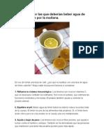 10 Razones  para beber agua limon