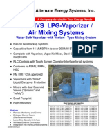 LPG vaporizer air mixing systems