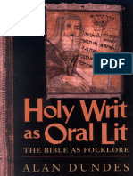 Alan Dundes - Holy Writ as Oral Lit