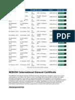 NEBOSH COURSE DETAILS