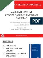 Materi Presentasi Implementasi SAK ETAP (STAN, 22 Mei 2012)