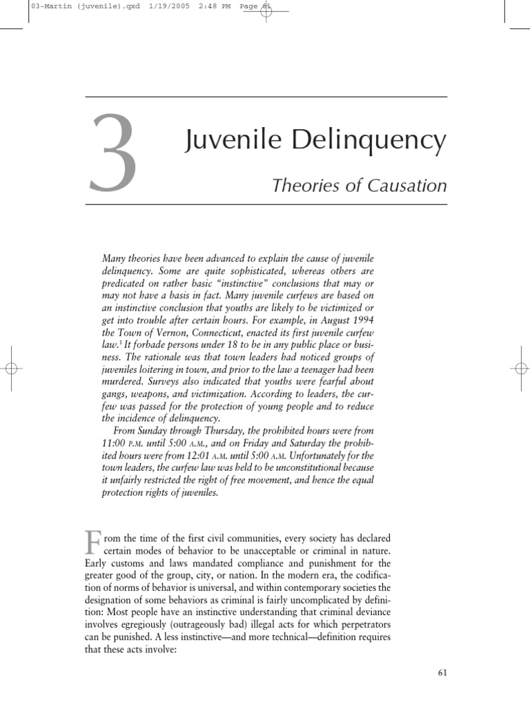 an essay on juvenile delinquency and religion Therefore nowadays juvenile delinquency is different in many cases juvenile delinquency can be defined different in different cultures and age groups the simple definition of it is when teenagers below of age 18 are committing illegal acts.