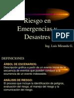 Riesgo en Emergencias y Desastres