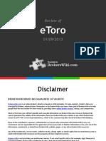 Review of eToro Forex 2013