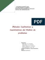 Metodos Cualitativos y Cuantitativos de analisis de problemas
