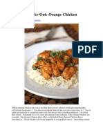 Take Out Fake Out Orange Chicken Recipe