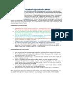 Advantages and Disadvantages of Print Media