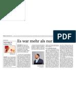 Stern von Bethlehem-Vortrag in Altdorf, Zeitungsbericht
