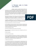 La Demanda Peruana Ante La Corte Internacional de Justicia