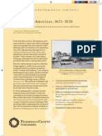 Jews in the Americas, 1621–1826 colour leaflet