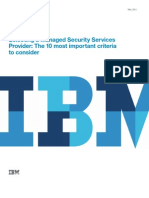 Selecting a Managed Security Services Provider