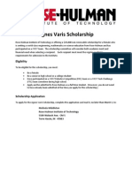Rose-Hulman Institute of Technology - Agnes Varis Scholarship