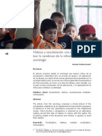 Habitus y socialización, una tentativa para leer la condicion de la infancia desde la sociología