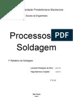 1° RELATÓRIO DE SOLDAGEM