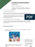 Objetivos y actividades pequeño proyecto de Sorolla