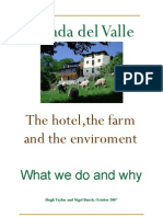 Hotel Posada del Valle What We Do and Why