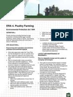 Fact Sheet - ERA 4 Poultry Farming