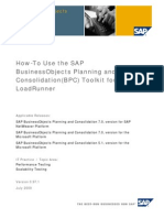 How-To Use the SAP BusinessObjects Planning and Consolidation (BPC) Toolkit for LoadRunner