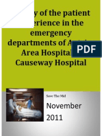 survey of the patient experience in the emergency departments of antrim area hospital