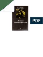 Virilo Paul Estetica de La Desaparicion