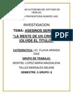 ASESINOS SERIALES:MENTE CRIMINAL
