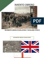 MOVIMIENTO OBRERO EN INGLATERRA Y SOCIALISMO PREMARXISTA