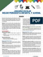 Bases del X concurso Mejor Periodista Infantil y Juvenil de Prensa-Escuela 2012-2013