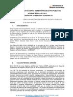 INFORMES TECNICOS AÑO 2013
