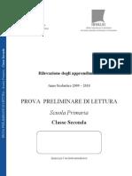 Preliminare Lettura SNV0910 Classe II Primaria