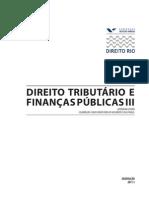 Direito Tributario e Financas Publicas III PROFESSOR 2011-1